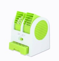 View Sanjith Mini Fan Cooling Desktop PC Dual Air Conditioner USB Personal Air Cooler(Green, White, 40 Litres) Price Online(Sanjith)