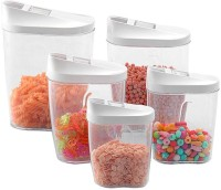 M MEGALITE GOOD QUALITY food grade material, Air Tight, Rust Proof & High Grade Container/jar Set 1 Pcs with Lids ,Leakproof for Storing & Serving Dry,Fruits/Snacks/Food/serving food ,using high-quality plastic and Glass,(10 Pcs) Self Use; and Diwali, Dhanteras & Festive Gifts  - 300 ml, 960 ml, 780