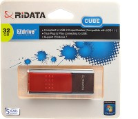 Ridata Cube 32 GB Pen Drive(Red)
