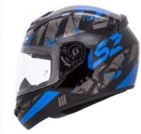 LS2 Palimnesis Motorbike Helmet(Black, Blue)