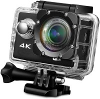 LIZZIE 4k WIFI Ultra HD Waterproof Sports and Action Camera(Black, 16 MP)