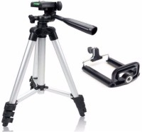 syvo Quality Tripod Stand 360 Degree 940mm Extendable Stretch 3110 Portable Digital Camera Mobile Stand Holder Camcorder Tripod Stand Lightweight Aluminum Flexible Portable Three-way Head Compatible with Sony Canon Nikon Tripod (Silver, Supports Up to 1000) Tripod(Silver, Supports Up to 1000 g)