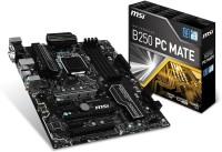 MSI B250 PC Mate Motherboard(Black)