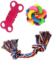 Jainsons Pet Products Dog & Puppy Multi Color Ball Cotton Chew Toy, Rubber Toy For Dog