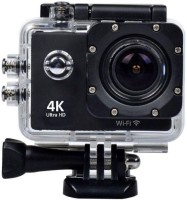 WILES sport action Sports Action Camera 16 MP 4k WiFi Ultra HD Waterproof with 25 Accessories Sports and Action Camera(Black, 720 MP)