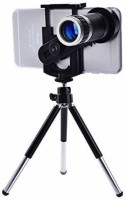 TSV Mini Tripod with Flexible Legs Universal Mobile Camera Lens with Tripod & Holder | 8X Optical Zoom Tripod Kit(Black, Supports Up to 1500)