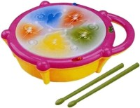 PS Aakriti Kids Multicoloured Flash Drum Set With Music and Lights Electronic Touch Flash Visual 3d Lights with 3 game mode & Dynamic Music Toy For Kids and for Return Gift(Multicolor)