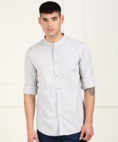 ARROW BLUE JEANS CO. Men Solid Casual Grey Shirt