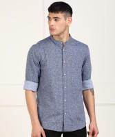 ARROW BLUE JEANS CO. Men Printed Casual Blue Shirt
