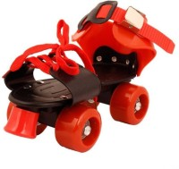 JSK collection Shoe Racer Quad Roller Skates Quad Roller Skates - Size 16-22 UK(Red)