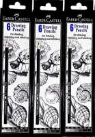Faber-Castell Graphite 2B, 3B, 4B, 5B, 6B, 8B Pencil(Pack of 3)
