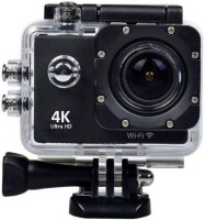 ZEPAD Sport Action Sports Action Camera 16 MP 4k WiFi Ultra HD Waterproof with 25 Accessories Sports and Action Camera(Black, 720 MP)