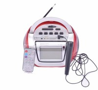 ABB Stereo Boom Box with Watch, Karoake Feature & Remote Enjoy Dolby Music, Sing & Also Radio on The Go -