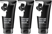qraa Charcoal Peel-Off Mask For Gentleman With Class (Pack of 3)(150 g)