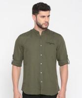 Jack & Jones Men's Solid Casual Green Shirt