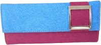 Saugat Traders Girls Casual, Ethnic, Evening/Party, Formal, Travel, Trendy Blue, Purple Denim Wallet(10 Card Slots)