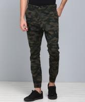 Highlander Slim Fit Men's Green Trousers