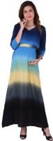MomToBe Women's Maxi Multicolor Dress