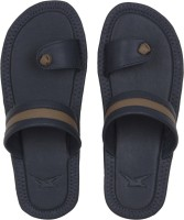 Kraasa Men Synthetic Leather Chappal (Blue) Slippers