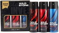 Wild Stone Ultra Sensual+ Red+Legend Combo Deodorant Body Mist  -  For Men(600 ml, Pack of 3)