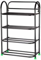 Raj Heavy Duty Metal Shoe Stand(Black, 4 Shelves)