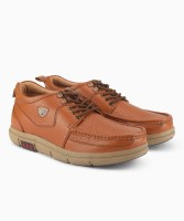 Red Chief Boat Shoes For Men(Tan)