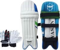 Wasan Cricket Batting Legguard Pads and Cricket Batting Gloves Set (5-8 Years) Cricket Kit