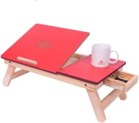 IBS lapdesk Foldable Study wooden Kids Study bed table Mate with Drawer Wood Portable Laptop Table(Finish Color - RED)