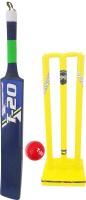 Jaspo T-20 Wooden Cricket Set(Size-5)(1 Wooden bat,1 T-20 Ball,3 Plastic Stumps,2 Bail)(BLUE) Cricket Kit
