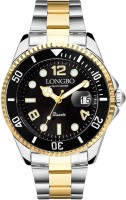 Longbo Silver Gold Stainless Steel Black Dial Scratch Resistant Waterproof Luxury Watch for Men and Boys Analog Watch  - For Men