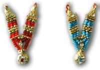 MNA Colourful Mala For Goddess Shringar / Mala For God Shringar / Devi Haar Shringar - 2 Pcs Deity Ornament(Bal Gopal, Laddu Gopal, Thakur Ji)