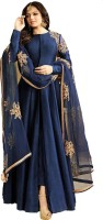Mert India Cotton Silk Embroidered Kurta & Churidar Material(Unstitched)