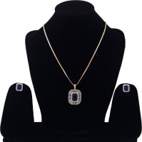 Darsha collections Stone, Alloy Jewel Set(Blue)