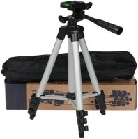 Qsa Collection 3110 Tripod Stand With 3-Way Head Light Weight for Camera with mobile Tripod(Silver, Supports Up to 1500)