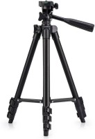 Mezire Professional Tripod 3120 - Universal Tripod Portable & Foldable Camera - Mobile Tripod With Mobile Clip Holder Bracket | Fully Flexible Mount Cum Tripod | Stand with Three-dimensional Head & Quick Release Plate Tripod(Black, Supports Up to 1500 g)