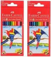 Faber-Castell 1 regular size Shaped Color Pencils(Set of 2, multicolours)