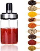 Femora Borosilicate Glass Sauce Spice Jar & Pickle Jars With Spoon 1 Piece Spice Set(Glass)