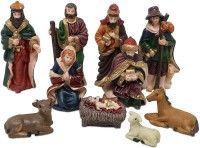 CraftEra nativity figurine,nativity figurine set,nativity set christmas,nativity set models,nativity crib set,nativity hut,nativity figurine set,nativity toys Assembled 10 cm Pack of 10