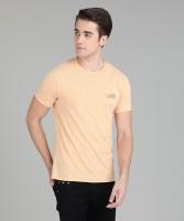 Blackberrys Solid Men's Round Neck Beige T-Shirt