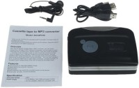 APLINK Portable USB Portable Cassette to MP3 Converter Tape-to-MP3 Player MP3 Player(blace, 0 Display)
