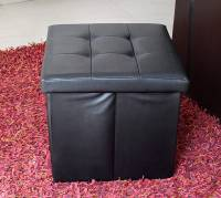 Tied Ribbons Leatherette Standard Ottoman