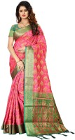 Shoppershopee Embellished Patola Poly Silk, Poly Silk Saree(Pink)