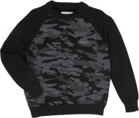 Pepe Jeans Printed Round Neck Casual Boys Black Sweater