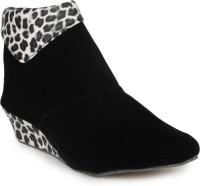 Aloha Rag Ankle Length Boots For Women(Black)