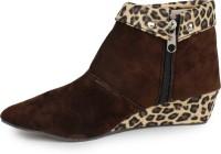 Aloha Rag Ankle Length Boots For Women(Brown)