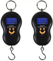 VBR's Group 50kg-Digital Kitchen/Luggage Hanging LED Smiley Weighing Scale(Multicolor)