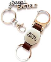 Royal Enfield Leather metal and full metal Keychain Key Chain