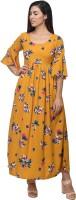 Kannan Women Maxi Yellow Dress