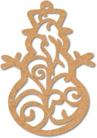 100yellow Christmas Tree Decoration Hanging Ornaments Pack of 10 Wooden Cut-outs(10)