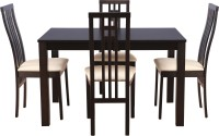 HomeTown Solid Wood 4 Seater Dining Set(Finish Color - cappuccino)